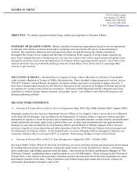 Veteran Resume Examples Resume For Veterans Leyme Carpentersdaughter Co