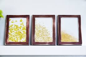 mr kate diy framed glitter