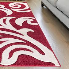 florence red rugs cream 2b