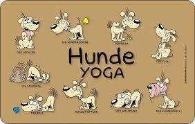 Hunde Sprüche Yoga Frühstücksbrettchen 142x233