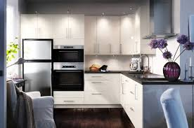 White Galaxy Granite Kitchen Ikea Kitchen Design With White Cabinetry Also Black Galaxy Granite