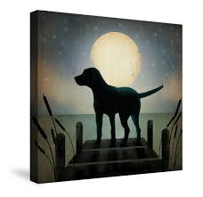 Canvas Art Moonrise Black Dog Canvas Wall Art Art Pinterest Canvas