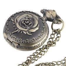 81stgeneration women s brass vintage style rose pocket watch chain