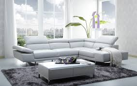 grey leather sectional 1717 leather sectional sofa in light grey