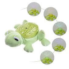Turtle Stuffed Animal Night Light Frog Shaped Plush Toy Starry Sky Nightlight Projector Led Lamp