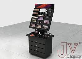 Make Up Stands And Displays Extraordinary Retail Portable Makeup Display Stands Black Floor Stand For Sale