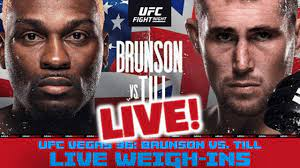 UFC Fight Night OFFICIAL WEIGH-INS ...