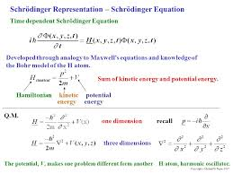 schrodinger equation gives the constant total energy equal to the sum of kinetic
