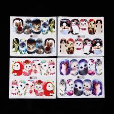 24 Sheets Owl Dog Animals Nail Art Water Transfer Decals Nail ...