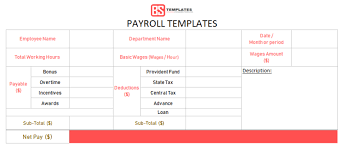 Year To Date Paycheck Calculator Payroll Template Free Employee Payroll Calculator For