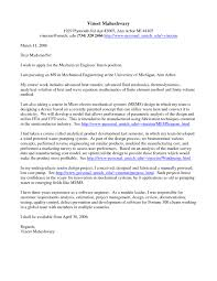 Cover Letter Chemical Engineering Internship For Environmental