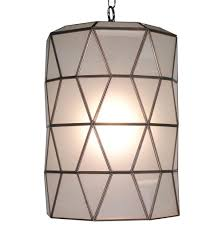 origami global bazaar frosted glass cylinder pendant lantern kathy kuo home