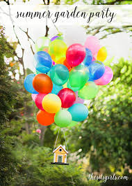 summer garden party decorations and