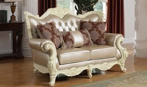 Traditional Living Room Sets 674 Madrid Traditional Living Room Set In Rich Pearl White By