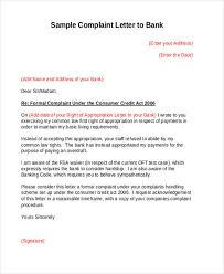 complaint letters in pdf premium templates bank service complaint