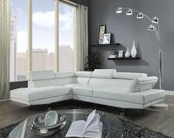 acme 52645 2 pc connor zorba modern style white faux leather sectional sofa