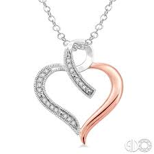 diamond heart pendant in sterling silver with chain return to previous page lightbox