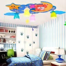 lighting for kids room. Moon And Stars Led Ceiling Lights 110V-220V E27 Lamp Kindergarten Kids Flush Mount Children Room Child Lighting #Affiliate For I