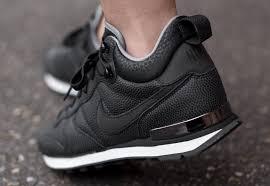 women nike high top sneakers nike internationalist mid leather w shoes women black white