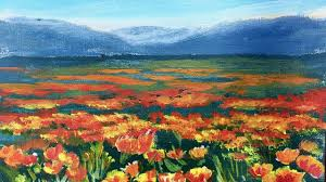 california poppy fields a study in depth of field ginger cook beginner acrylic painting lesson you