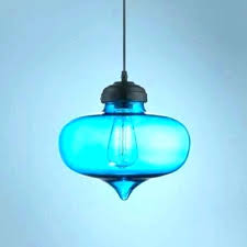blue ceiling light glass pendant lights stained lamp shades uk