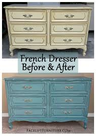 french distressed furniture. Sea Blue French Dresser ~ Before \u0026 After. Find More Painted, Glazed Distressed Inspiration On Our Pinterest Boards, Or The Facelift Furniture DIY Blog. O