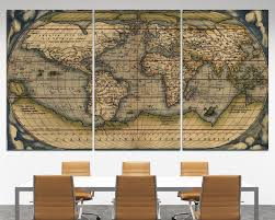 antique world map on canvas copy wall arts old world map art canvas vintage map wall on vintage wall art canvas with antique world map on canvas copy wall arts old world map art canvas