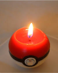 Cool Candle Pokeball Candles