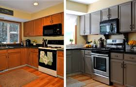 white painted kitchen cabinets before and after. Granite Countertops Painted Kitchen Cabinets Before And After Lighting Flooring Sink Faucet Island Backsplash Subway Tile Glass Cherry Wood Harvest Gold White P