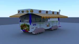 3d Food Truck Design Artstation Food Truck 3d Model Sai Charan