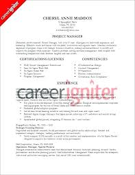 Lean Six Sigma Resume Examples This Is Construction Project Manager