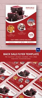 bake flyer psd indesign ai format red colour bake flyer
