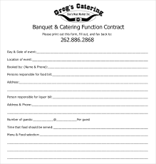Catering Contract Samples 9 Catering Contract Examples In Pdf Word Examples