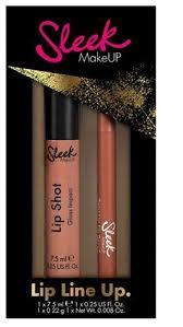 details about sleek makeup lip pencil and lip gloss gift set