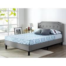 zinus kellen upholstered scalloped platform bed frame full hd fsup f the home depot