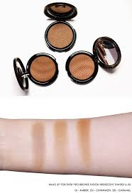 make up for ever pro bronze fusion swatches escentual s beauty buzz