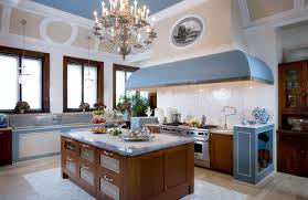 Kitchen:White French Country Kitchen Style With 3 White Chandelier Idea  Luxury French Country Style