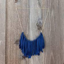 diy necklace ideas fringe t shirt pendant beads statement choker