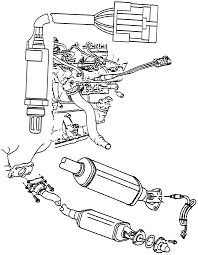 Locations of the heated oxygen sensors in the exhaust manifold and the three way catalytic converter 3 4l vin e engine shown others similar