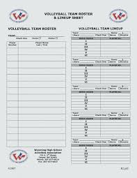 Roster Template New Sport Roster Template Fa 488 48 R Player Hockey Asctechco