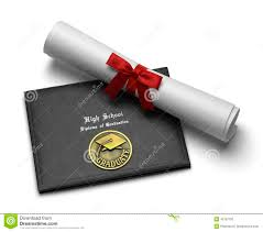 High School Deploma High School Diploma Stock Image Image Of Certificate 43787705