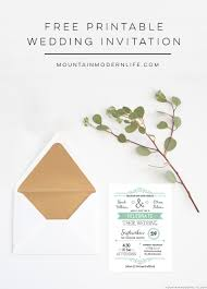 wedding invitation template mountainmodernlife com printable rustic wedding invitation mountainmodernlife com