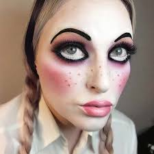 creepy doll makeup for easy last minute looks