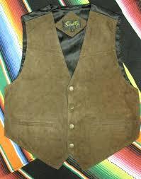 scully men s leather vest suede snaps satin back expresso