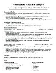 Real Estate Resumes Examples Resume Template Resume Examples Awesome ...