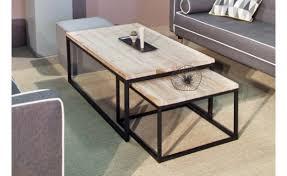 Table basse bois noir table basse fer | Somum