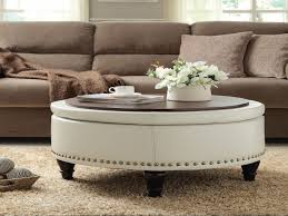 top large tufted ottoman round leather ottomans coffee tables large for large circle ottoman prepare