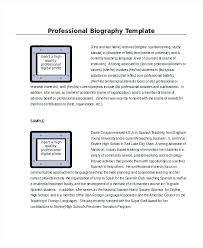 Autobiography Sample For Job Bio Data In Word Application Template