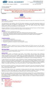Mar 03 Design Written Employment Contract With Mandatory Ket