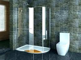 doorless walk in shower with glass